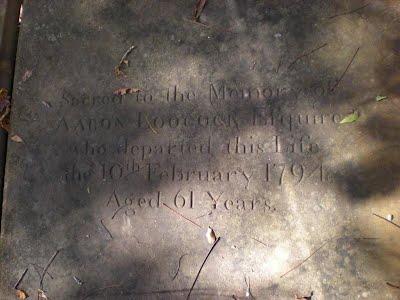 Box tomb of Aaron Loocock